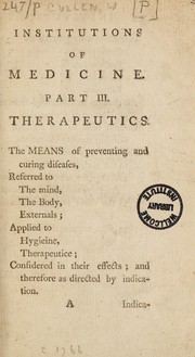 Cover of: Institutions of medicine