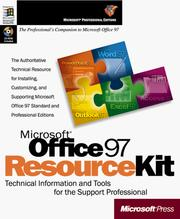 Cover of: Microsoft Office 97 resource kit |