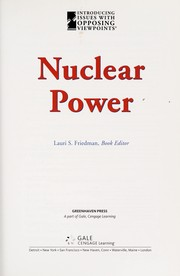 Cover of: Nuclear power |