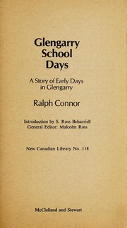 Cover of: Glengarry school days | Ralph Connor
