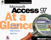 Cover of: Microsoft  Access 97 At a Glance (At a Glance (Microsoft)) | Perspection Inc.