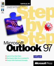Cover of: Microsoft Outlook 97 (Step By Step (Microsoft)) | Inc. Catapult