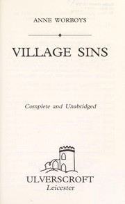 Cover of: Village Sins