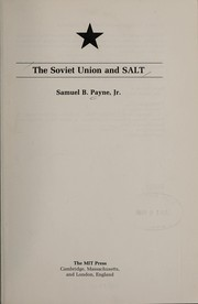 Cover of: The Soviet Union and SALT