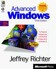 Cover of: Advanced Windows | Jeffrey Richter
