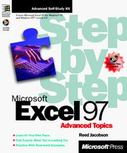 Cover of: Microsoft Excel 97 step by step, advanced topics