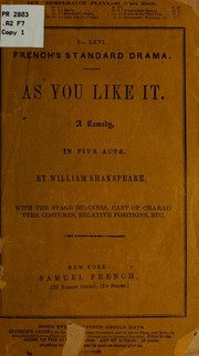 Cover of: As you like it