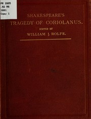 Cover of: Coriolanus