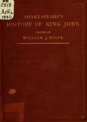 Cover of: King John