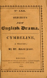 Cover of: Cymbeline | William Shakespeare