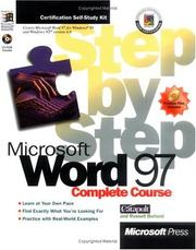 Cover of: Microsoft Word 97: Complete Course  | Russell Borland