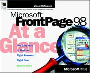 Cover of: Microsoft FrontPage 98 at a glance