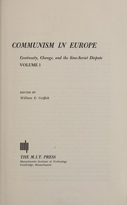 Cover of: Communism in Europe