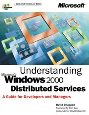 Cover of: Understanding Microsoft Windows 2000 distributed services