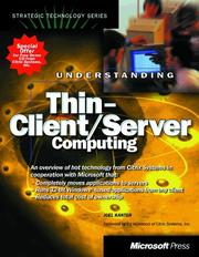 Cover of: Understanding thin-client/server computing