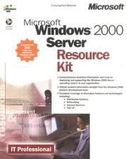Cover of: Microsoft Windows 2000 server resource kit |