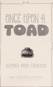 Cover of: Once upon a toad | Heather Vogel Frederick