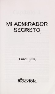 Cover of: Mi Admirador Secreto