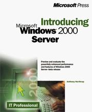 Cover of: Introducing Windows 2000 Server | Tony Northrup