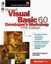 Cover of: Microsoft Visual Basic 6.0 developer