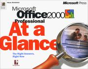 Cover of: Microsoft Office 2000 professional at a glance | Perspection, Inc