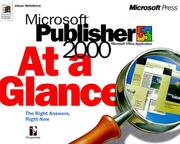 Cover of: Microsoft Publisher 2000 at a Glance (At a Glance) | David Busch