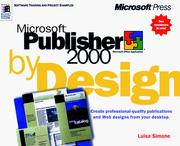 Cover of: Microsoft Publisher 2000 by Design