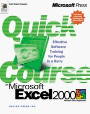 Cover of: Quick course in Microsoft Excel 2000