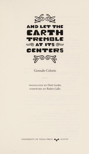 Cover of: And let the earth tremble at its centers