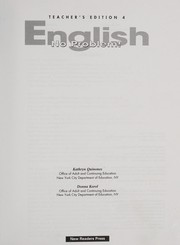 Cover of: English-No Problem! Teacher's Edition 4 |