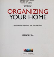 Cover of: Knack organizing your home