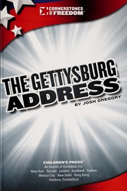 Cover of: The Gettysburg address | Josh Gregory