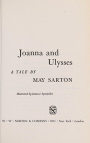 Cover of: Joanna and Ulysses | May Sarton