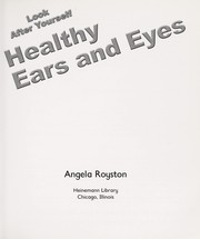 Cover of: Healthy eyes and ears |