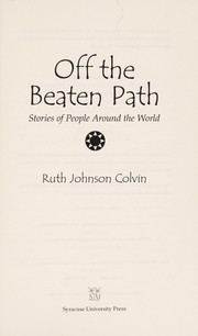 Cover of: Off the beaten path | Ruth J. Colvin