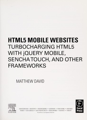 HTML mobile websites by Matthew David