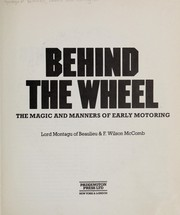 Cover of: Behind the wheel