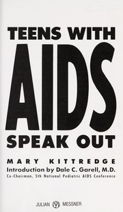 Cover of: Teens with AIDS speak out