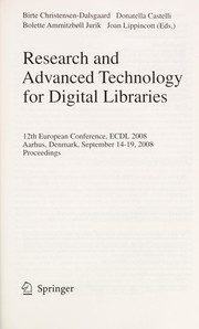 Cover of: Research and advanced technology for digital libraries