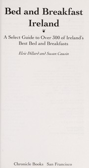 Cover of: Bed and breakfast Ireland | Elsie Dillard