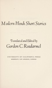 Cover of: Modern Hindi short stories | Gordon C. Roadarmel