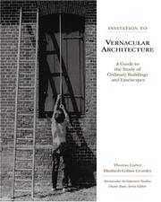 Cover of: Invitation to Vernacular Architecture | Thomas Carter