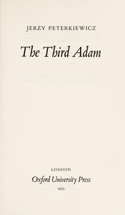 Cover of: The third Adam