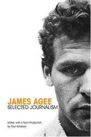 Cover of: James Agee