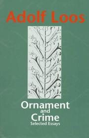 Cover of: Ornament and crime