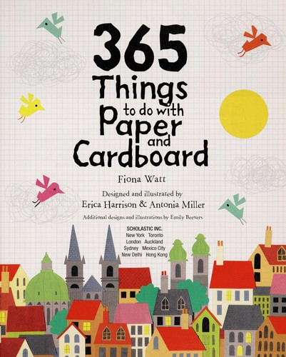 Paper Things Book Cover : Things to do with paper and cardboard edition