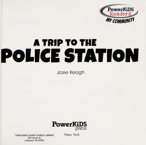 A trip to the police station by Josie Keogh
