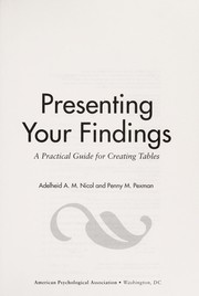 Cover of: Presenting your findings