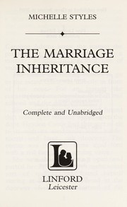 Cover of: The Marriage Inheritance