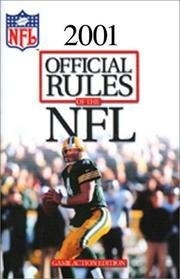 Official Playing Rules of the National Football League, 1999 (Official Rules of the NFL, 2000)